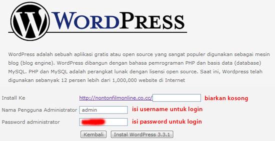 Cara Install WordPress di idHostinger