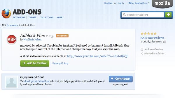 Hilangkan Iklan WordPress dengan AdBlock Plus